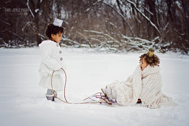 Outdoor Winter Child Photography